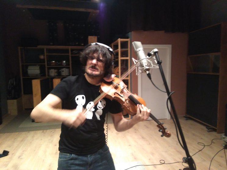 ¡¡Jaime Lapeña con los violines!!