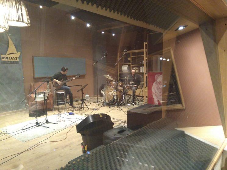 Jonás y Josemi poniendo las bases en los primeros días de grabación