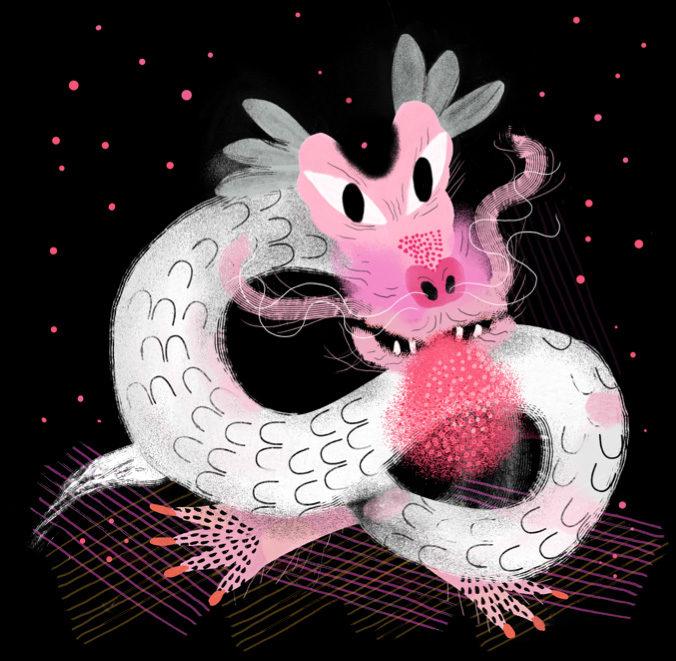 """""""Soñé que en mi cama había un dragón, pero no un dragón cualquiera, era especial, el fuego era rosa con purpurina"""". (Lucía/ A Coruña)"""