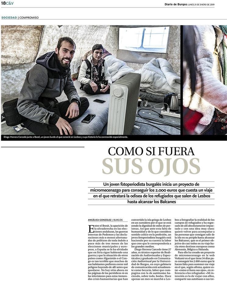 """Recorte Prensa """"Diario de Burgos"""""""