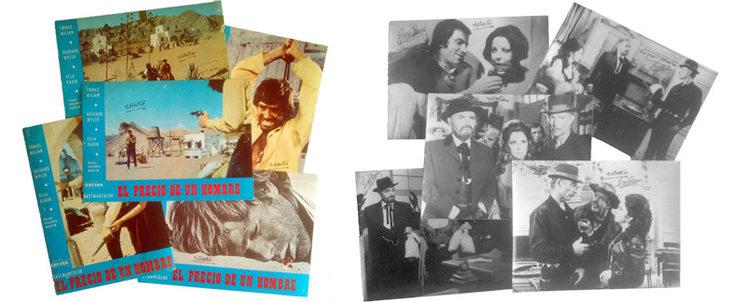 """Fotocromos """"El precio de un hombre"""" y Fotos """"El hombre de Río Malo"""""""