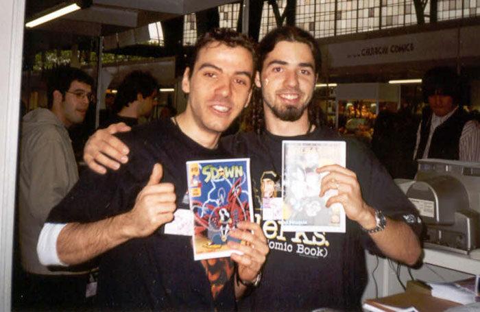 Javier Escribano y Adri Ortiz en el 19º Salon del Comic de Barcelona