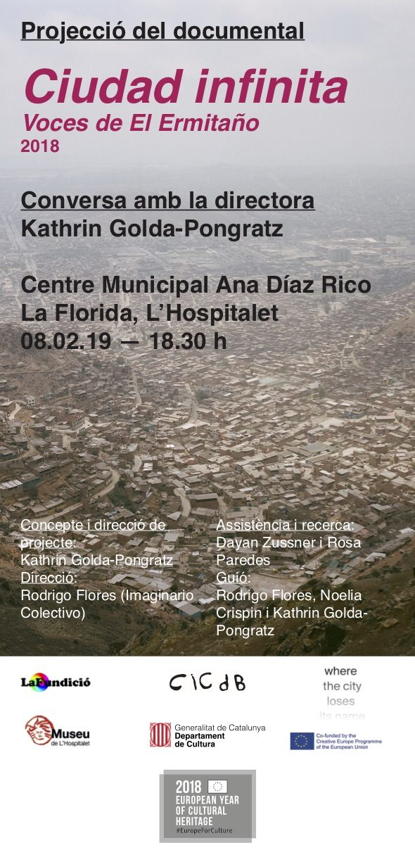 "El documental ""Ciudad Infinita"" se mostrará mañana en Barcelona-L'Hospitalet - Our documentary ""City Unfinished"" will be screened tomorow in Barcelona-L'Hospitalet:"