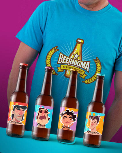 fe666b923fd6e Incluye 1 Juego Beernigma + 1 camiseta oficial de uno de los 4 personajes  principales + Cocohuevo (enigma extra descargable en la web de Cocolisto)
