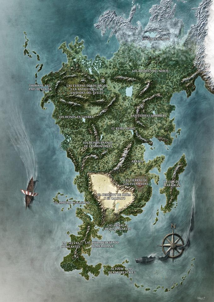 El mapa de Aventuria