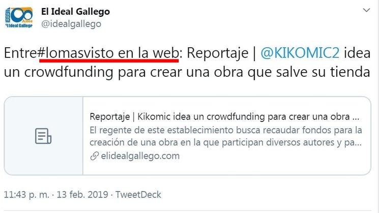 Reportaje | Kikomic idea un crowdfunding para crear una obra que salve su tienda