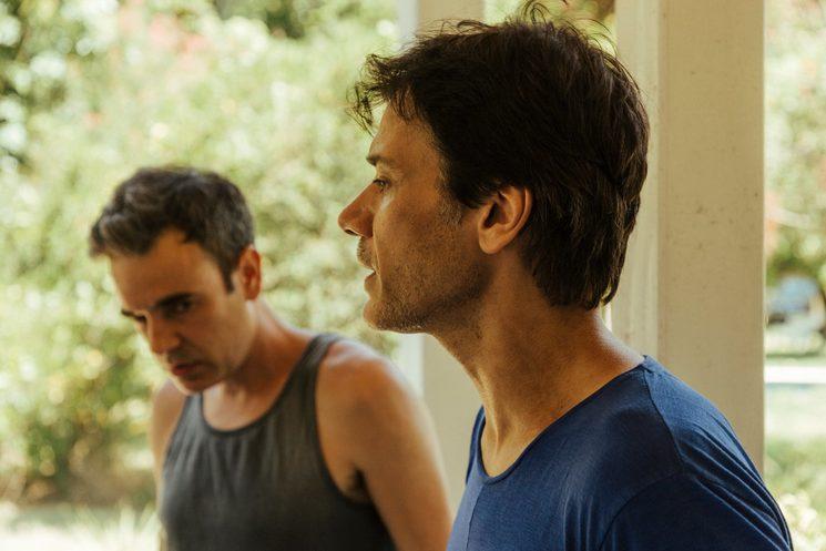 Hernán López acting coach with actor Lucas Foresi