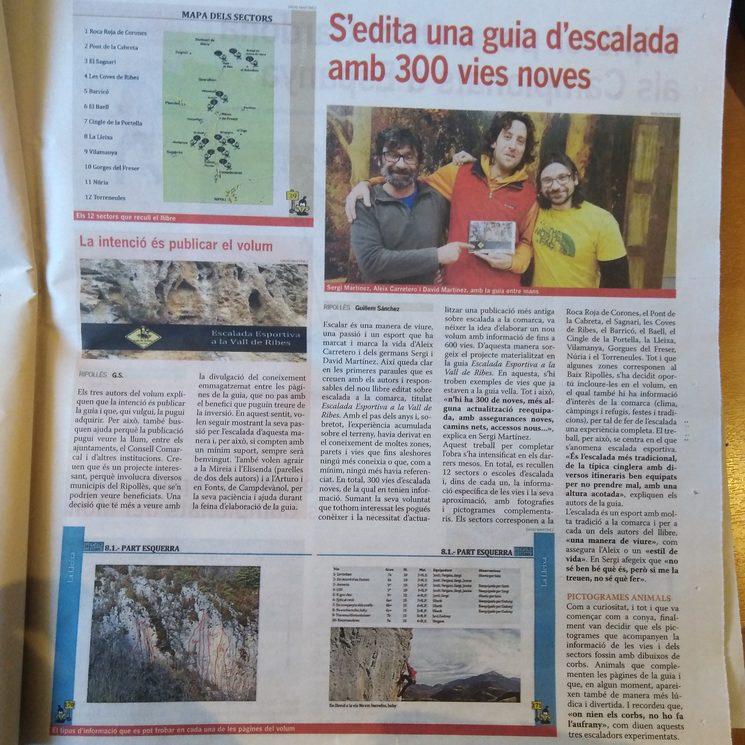 Petit reportatge al setmanari El Ripollès