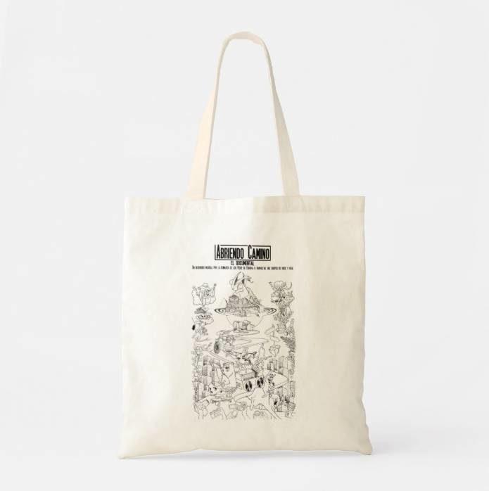 """Bolsa tote bag """"Abriendo Camino."""""""