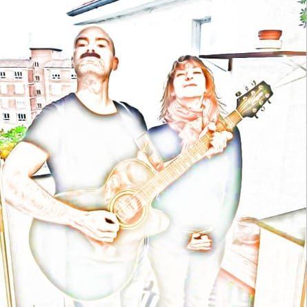 Con Marcos Muslera, guitarra