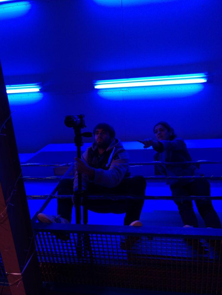 Rubén y Carmen haciendo pruebas de cámara