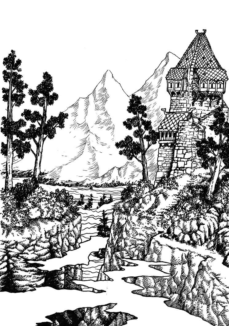 Entre las montañas de Gerla, una región particularmente peligrosa.