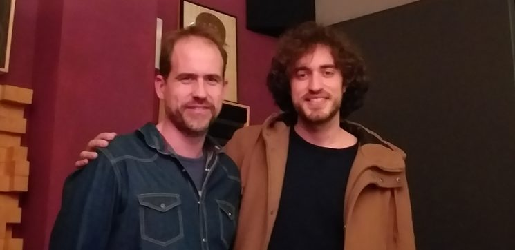 Con Guille Molina, que ha grabado pianos, teclados y hammonds.