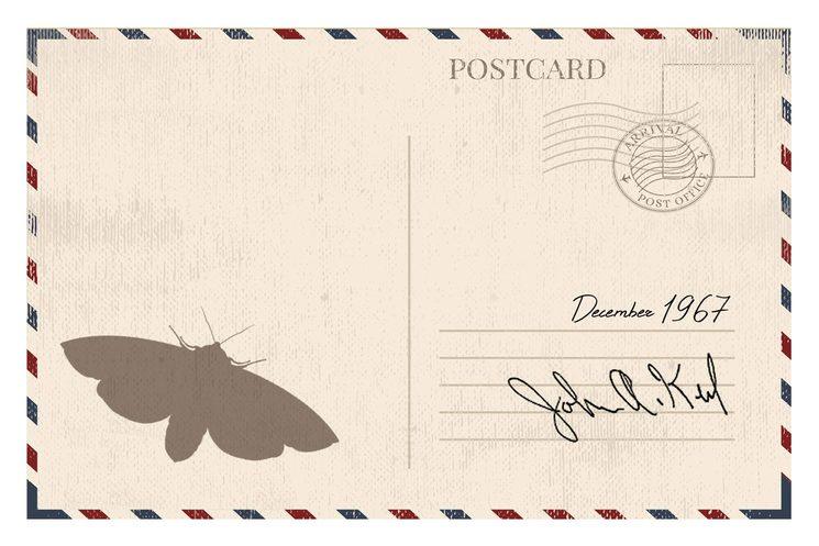 Reverso de la postal