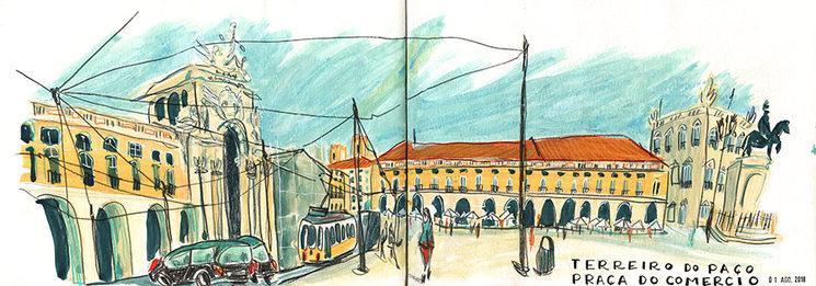 Praça do Comercio. LISBOA