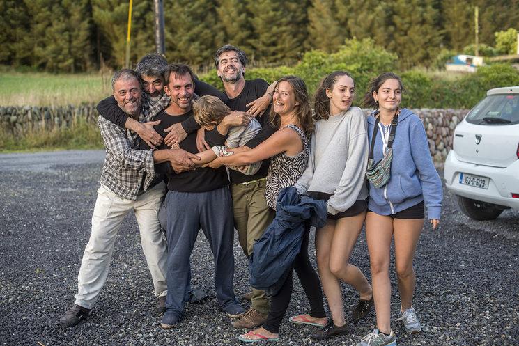 Grupo de amigos españoles. Carrigillihy, 2017