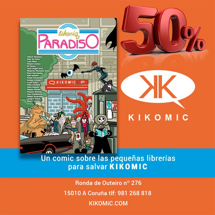 Librería Paradiso para Salvar Kikomic