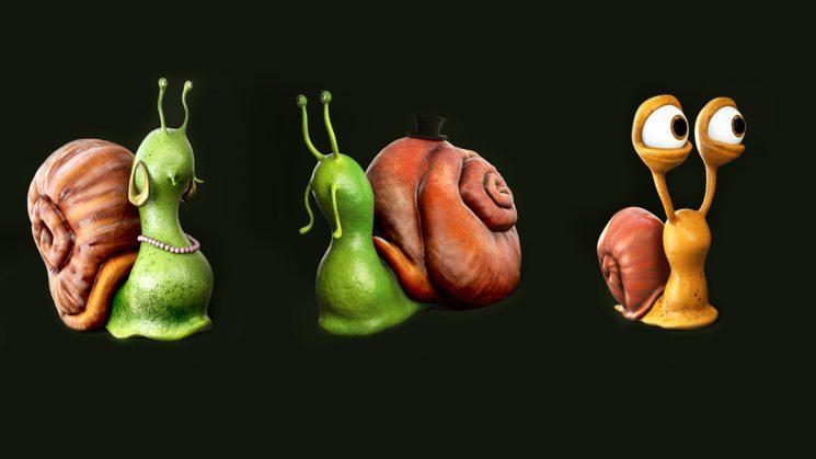 Snails 3D Renders
