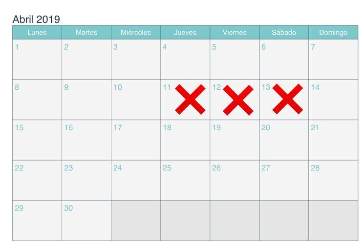 Calendario de Rodaje