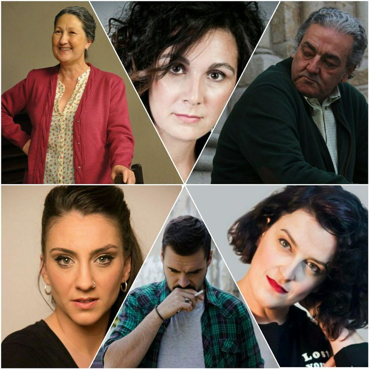 From left to right and from top to bottom: Luisa Merelas, Cristina Fuentes, Javier Gálego, Antía Costas, Tito Refoxo and Cristina Moreira