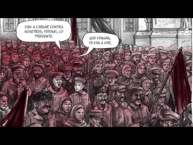 Lámina de Agustín Comotto del comic 155 sobre Simón Radowitzky