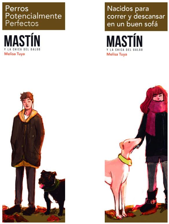 Los marcapáginas. En principio se entregará el de Martín, la chica del galgo se imprimiría en la segunda edición, de haberla.
