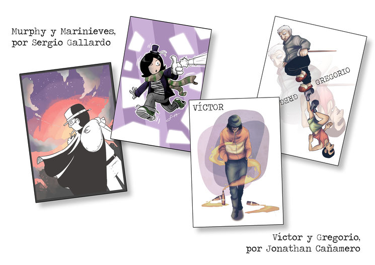 Láminas realizadas por Sergio Gallardo y Jonathan Cañamero
