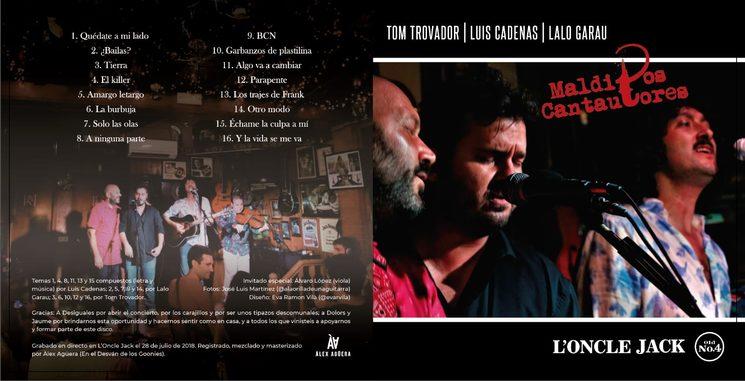 Con Luis Cadenas y Lalo Garau. Disco en directo de Malditos Cantautores