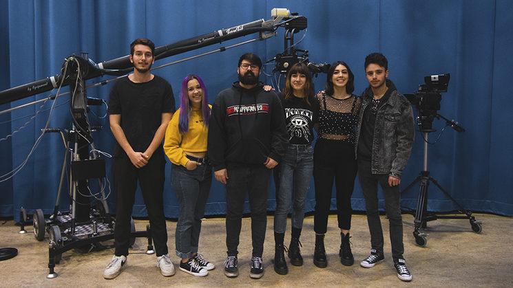 Gran equipo del cortometraje Rafael