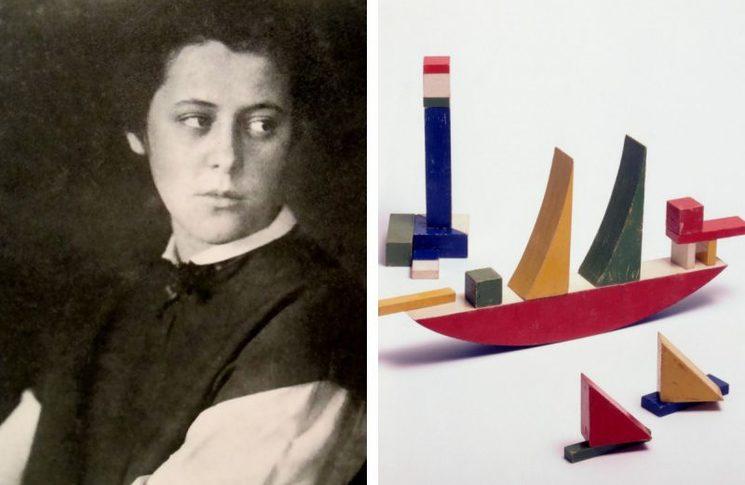 Alma con su juguete más famoso de construcción por piezas