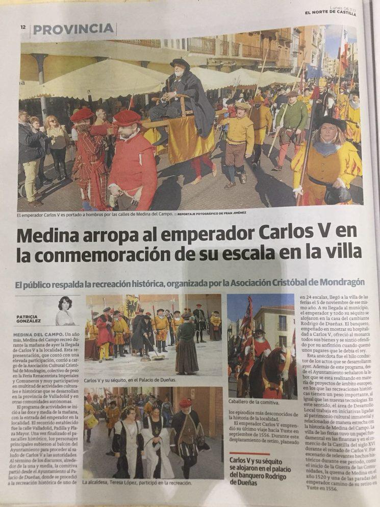 Publicación en prensa de gran tirada a nivel regional de uno de nuestros eventos