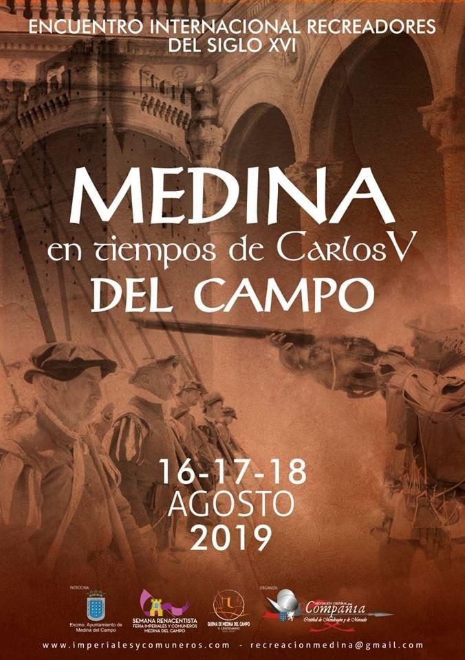 Cartel del evento que organizamos en Medina del Campo