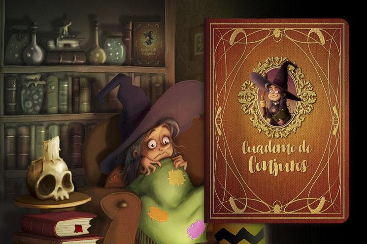 A ver si encuentras el Cuaderno de conjuros en la escena