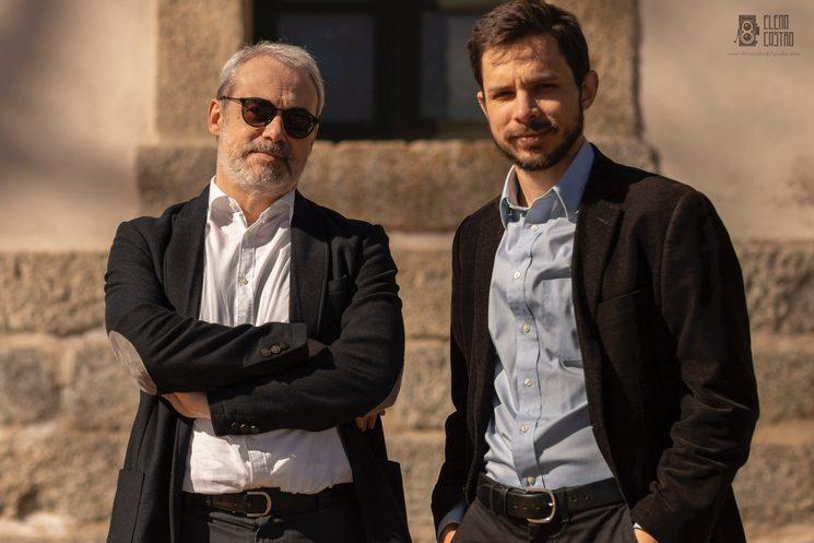 David del Puerto y Jeremy Bass en El Escorial