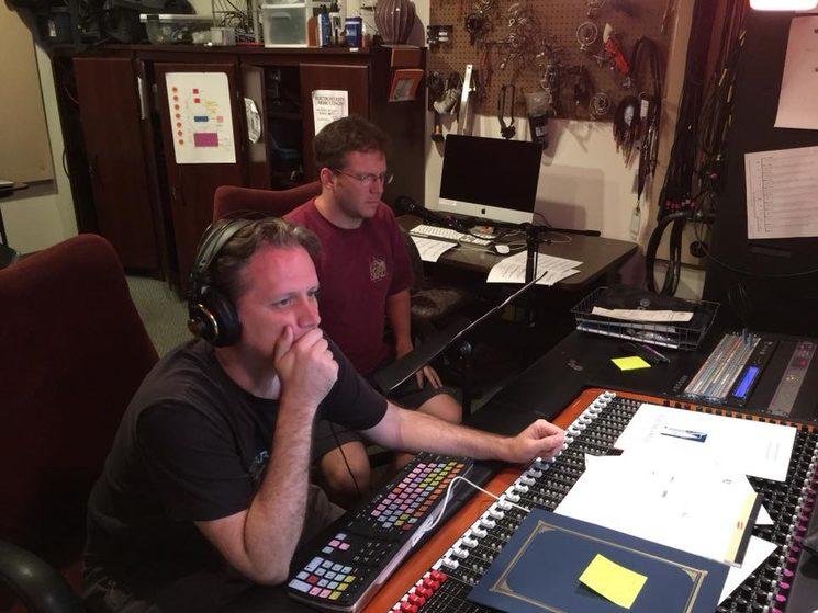 Matthew McCabe y Robert Sharpe durante la grabación
