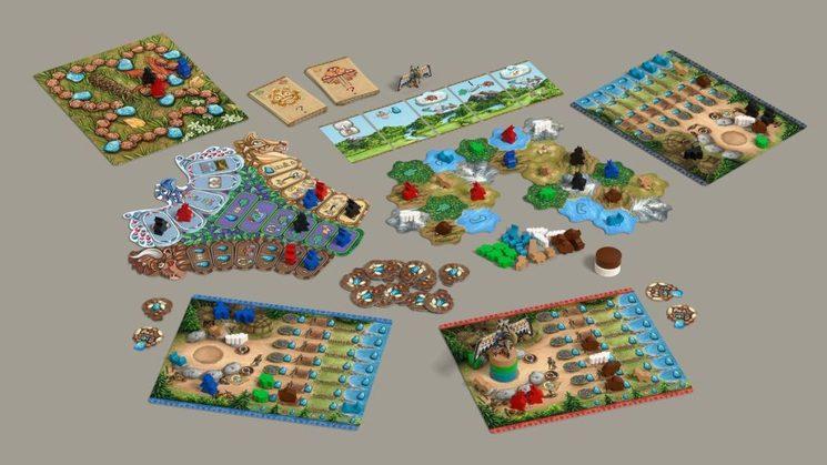 El juego destaca por sus componentes personalizados en madera