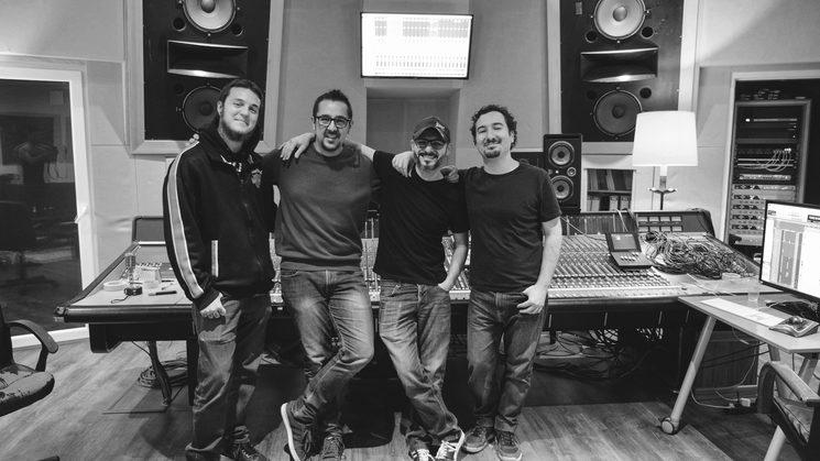Con Mateo Novati, Javier Guerrero y Luis del Toro en Estudio Uno, Madrid.