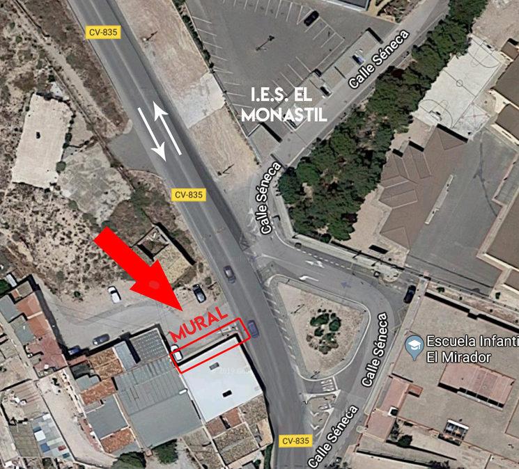 Mapa donde se sitúa el muro