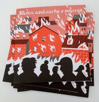 """""""Blanco, azul, carne y marrón"""". Por Jano + niños y niñas Coruñeses."""