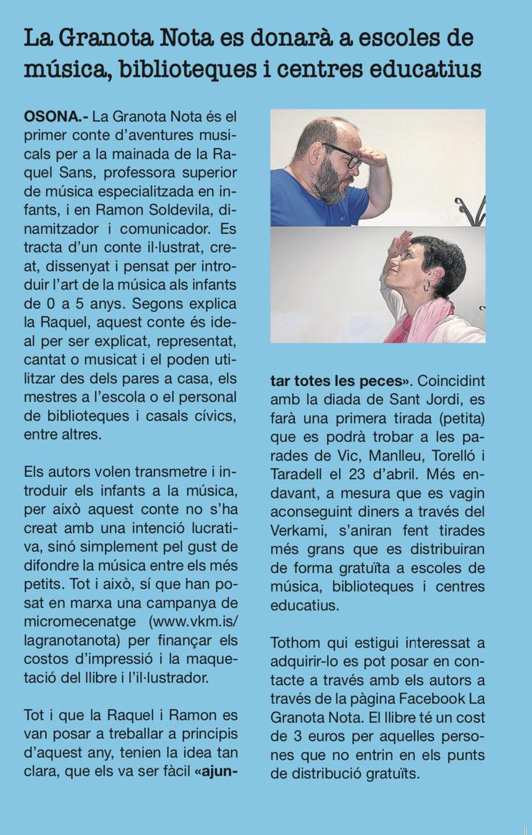 Entrevista a la Revista Estrip de Vic