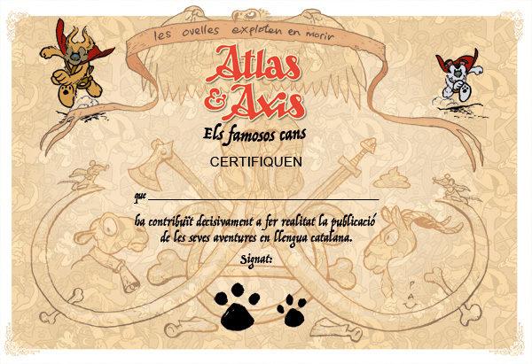 Certificat de compromís amb el còmic en català.