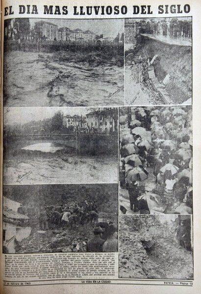 The most rainy day of the century. Granadian newspaper, Patria, February 1963.