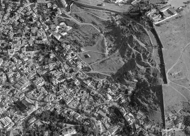Aerial view of San Miguel Alto(Albaycín) Granada.