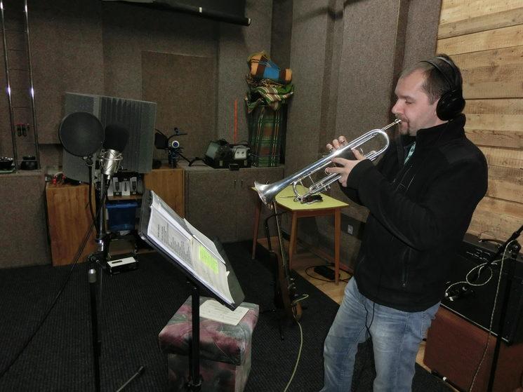 Martin Szymik en el estudio Digaz, Karviná.