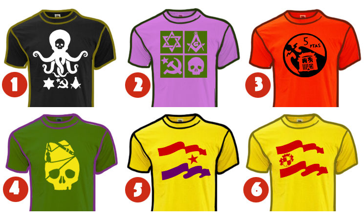 6 diseños de camiseta que puedes customizar.