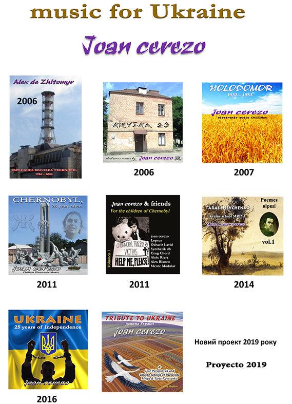 Discos editados por Joan Cerezo por Ucrania