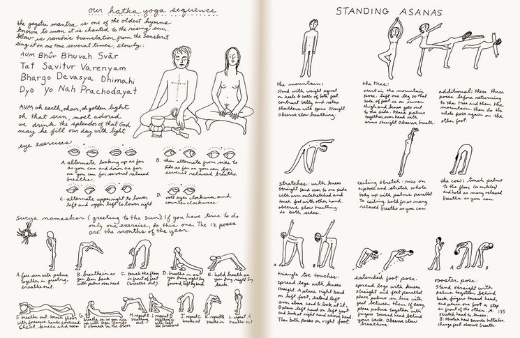 El libro incluye una amplia sección sobre yoga, meditación y mantras