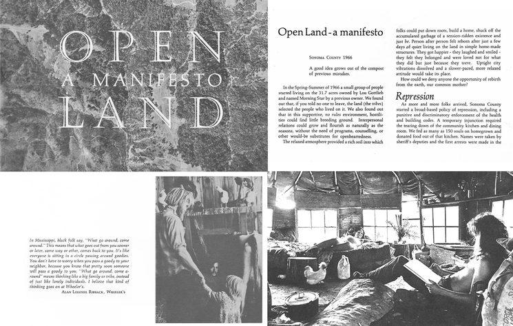 Algunas páginas del Open Land: A manifesto de 1966