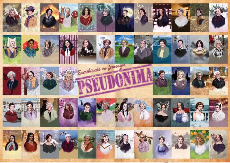 Las protagonistas de Pseudónima. Escribiendo en femenino