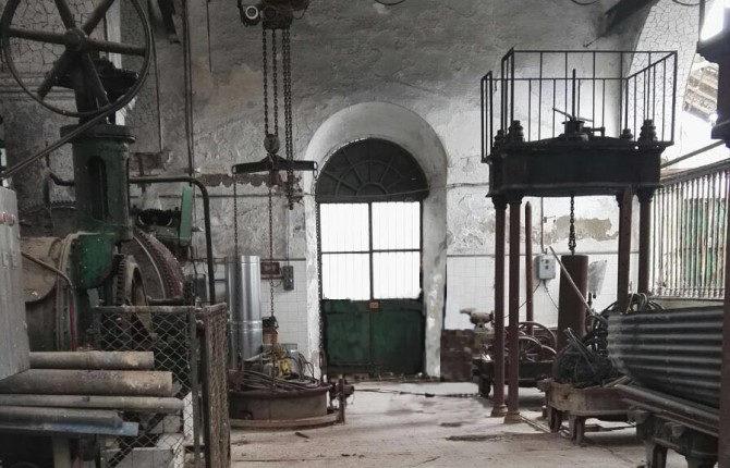 Antigua fábrica de aceite para realizar el primer test